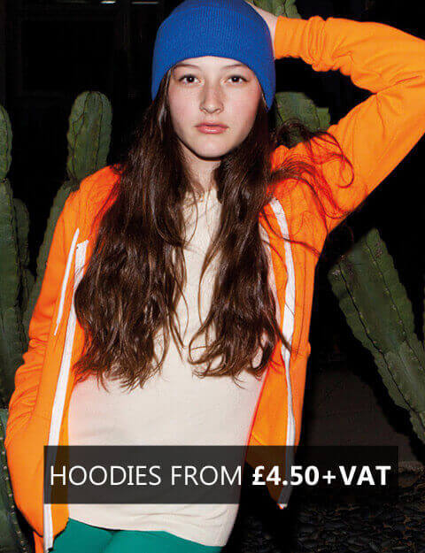 HOODIES FROM £4.50+VAT