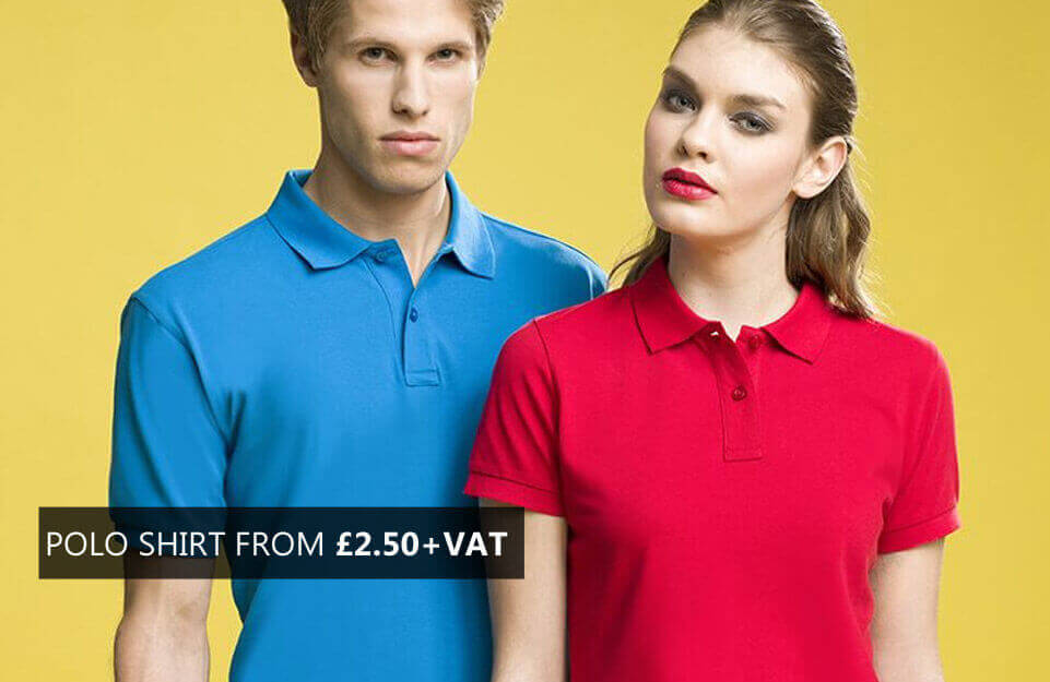 POLO SHIRT FROM £2.50+VAT